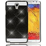 delightable24 Schutzhülle Sparkle Design Case SAMSUNG GALAXY NOTE 3 NEO Smartphone (HINWEIS!!!:NICHT FÜR NOTE 3!!!) - Schwarz
