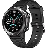 YAMAY Smartwatch Orologio Fitness Uomo Donna Impermeabile IP68 Smart Watch Touch Rotondo Cardiofrequenzimetro da polso Contap