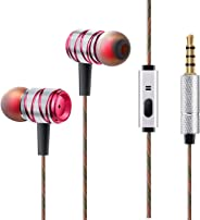 CHOETECH in-Ear Headphones,Music Earphones Super Bass Headphones with Mic Noise Canceling Headset for iPhone Samsung Huawei H