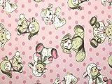 Baby Schaf Print Stretch Jersey Strickstoff Kleid Stoff Pink – Meterware
