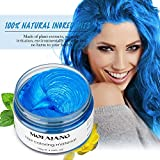 WSX Teinture pour les cheveux cire naturelle cire de cheveux jetable coiffure couleur de cheveux instantanée coiffure cire 7 couleurs