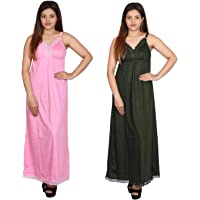 Rylie Womens Hosiery Cotton Full Length Camisole, Long Inner wear Petticoat-Nighty Slip-Kurti Slip-Suit Slip combo pack…