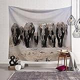 MIAO Tapisserie Wanddekoration 3 Indische Elefanten Böhmen Indische Mandala Hippie Tapisserie Bettdecke Tischdecke Picknick Strand Tuch (Farbe : B, größe : 200x150cm)