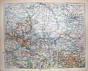 Carte allemande berlin allemagne leipzig de l 39 atlas 1900 for Cuisine xxl allemagne