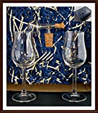 Geschenk 2 Bugatti Nosing Gläser mit Flaschenportionierer aus Echtglas im Geschenk Karton, kostenloser Versand