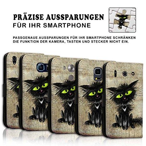 Wallet Book Style Flip Handy Tasche Case Schutz Hülle Schale Motiv Etui für Apple iPhone 6 / 6S - Variante UMV35 Design9 Design 9