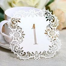 Hyaline & Dora números de tarjetas de mesa de la boda de encaje tarjetas de mesa para boda Party Favors