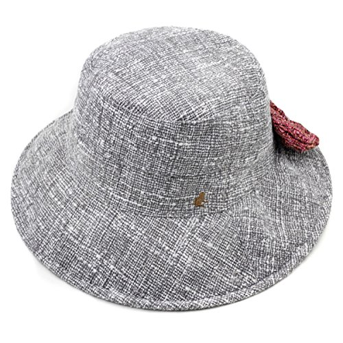 Hut Weiblichen Winter Fischer Hut Herbst Und Winter Mode Tuch Hut Freizeit Wild Pot Cap England Bogen Hut,Grey-OneSize (Pot England)