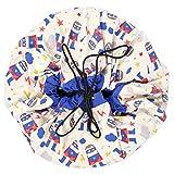 Baztoy 47.0014Box Spielzeugaufbewahrung–Aufbewahrungsbox Spielzeug- und (blau, rot, weiß, Baumwolle)