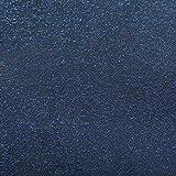 Folie Transparent 0,22mm LFGB Glitter Glitzer Blau Breite & Länge wählbar abwaschbare Tischdecke Schutzfolie Eckig 100 x 100 cm