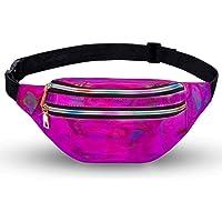 LIVACASA Gürteltasche Damen Bauchtasche Metallic Wasserabweisend Hüfttasche 3 Fächer Schultertaschen Mädchen…