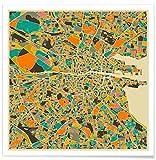 JUNIQE® Poster 30x30cm Städte Stadtpläne - Design