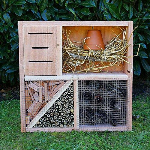 h tels insectes le cube h tel insectes en bois massif pour insectes auxiliaires du jardin. Black Bedroom Furniture Sets. Home Design Ideas