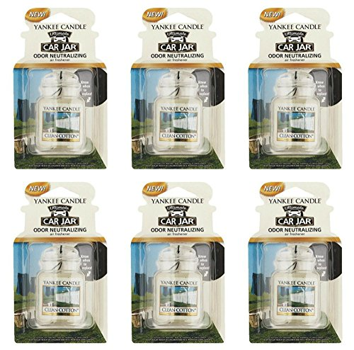 6x-3d-yankee-candle-clean-cotton-ultimate-car-vehicle-jar-air-freshener-scent