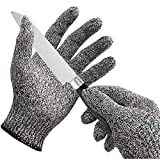 Brezzycloud Cut Resistant Gloves for Meat Cutting and Wood Carving Work Safety