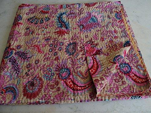 Tribal asiatischen Textilien Queen Kantha Quilt Tagesdecke Tapisserie Überwurf Gudari Ralli Decor SZ 90x 108