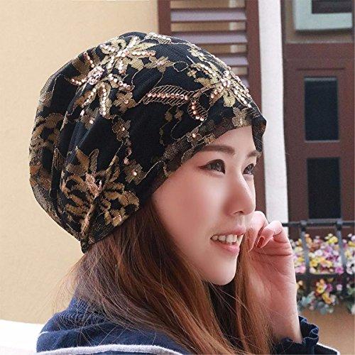 LIUXINDA-MZ Hat das Mädchen schal Cap spitze Mütze Glatze storehouse Kappe, schwangere Frauen gap Baotou hat im Frühjahr und Sommer neue, Gelb