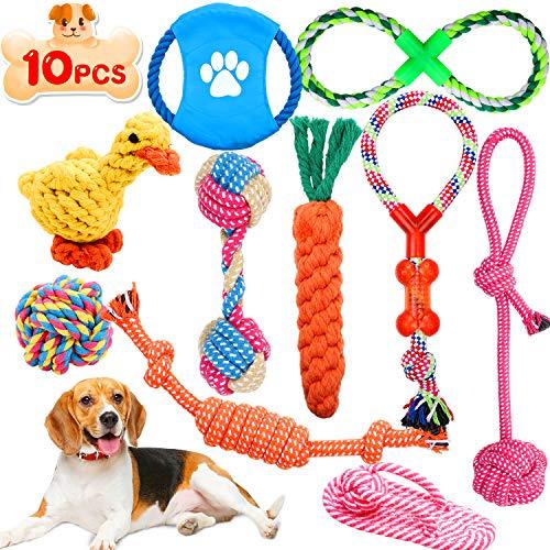 Wimypet 10 Piezas Juguetes de Cuerda para Perros