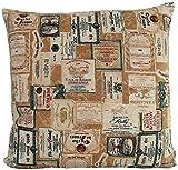 beties Rustika Kissenhülle ca. 60x60 cm in Großer Artikel-Auswahl für Den Gemütlich-rustikalen und Zeitlos-Modernen Einrichtungsstil Farbe (Camel-Burgund)
