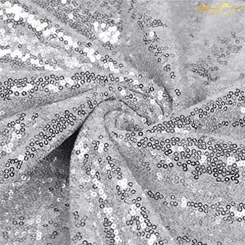 ShinyBeauty Paillettenstoff 2 m Gold Stretch Paillettenmaterial Stoff Paillettenstoff durch den Hof Glitter Kulisse C0104 (Den Stoff Glitter Durch Hof)