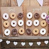 Ginger Ray Donut Wall - Cake Alternative Donutwand Aufsteller 'Rustic Country' (2 Stück) Hochzeit...