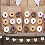 Ginger Ray Donut Wall - Cake Alternative Donutwand Aufsteller 'Rustic Country' (2 Stück) Hochzeit Candy Bar Tortendeko