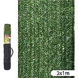 Ldk Garden 82181 - Seto artificial de ocultación para jardín, 300 x 100 x 20 cm, color verde