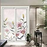 HL-PYL HL - Elektrostatische Milchglas Folie Glas Tür fenster Aufkleber selbstklebende Sticker Wohnzimmer Türen Fenster und Türen Beschattung Fenster Aufkleber, Schrubben, Breite 80 * 198 cm