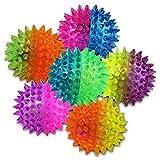 3 x Leuchtflummi Leucht Flummi Stachelball Stachelflummi Blinkball Leuchtball