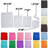 "TtS Estirar la tapa del tubo cintura Tutu crochet Headband Hair suministros 7""x9"" (blanco)"