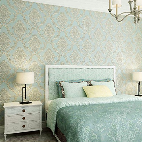 kinlo-3d-papel-pintado-053-x-10m-para-pared-resistente-a-humedad-moho-antiestatico-azul