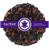 """N° 1186: Té de frutas""""Maroon (bordeaux)"""" - feuilles de thé - 500 g - GAIWAN GERMANY - baies d'aubépine, hibiscus, raisin, sureau, gratte-culs"""