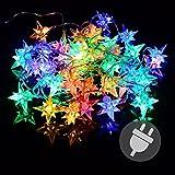 Nipach GmbH 40er LED Sternenlichterkette bunt für Innen Aussen Trafo transparentes Kabel Sternenkette Weihnachtssternkette Weihnachtsdeko Xmas
