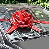 WXJ13 40 cm Bright Rot Auto Schleifen mit 6 m Band für Christmas Present, Große Geschenk Dekoration, Ball, Surprise Party, Neue Häuser