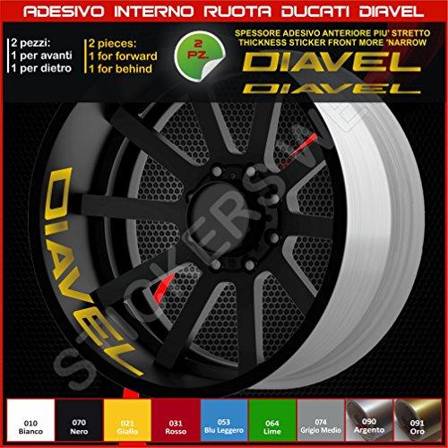 Ducati Diavel, Sticker für Rollen, Teil Speicher, liniert, für Felgen, Aufkleber, cód. 0218 091 Gold