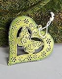 formano Dekohänger Fensterdeko Hängedeko Herz mit Schmetterling aus Metall, 7 cm