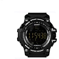 OPTA EX16-SW-007 Rubber Outdoor Sports and Fitness Bluetooth Smart Watch for Android and iOS Compatible, Medium (Black)