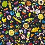 Fat Quarter Baumwollstoff Candyland, bedruckt, 100 %