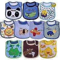 Yafane Bébé Bavoir Imperméable Coton Lot de 10PCS Bavoirs Bandana Bavette pour Bébé Enfant 3 à 24 mois