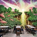Personalizza Qualsiasi Dimensione Murale 3D Bella Dipinta a Mano Patata Dolce vegetale Ristorante Creativo Fresco Soggiorno Carta da parati-280x200cm