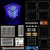Keyestudio 4* 4* 4LED azul cubo para Arduino Compatible tmega328DIY Kit