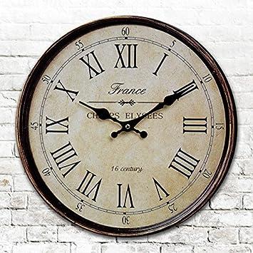 Runde Amerikanischen Antike Uhren Digitale Wand Uhr Digitaluhr Retro Wohnzimmer Schlafzimmer Durchmesser 34 40 50 60 CmB24 Zoll Amazonde