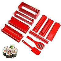 Gobesty Sushi Maker, 10 Pièces Sushi Maker Kit Complet, Sushi Kit Fabrication, Ensemble Doutils à Sushi pour Sushi DIY…