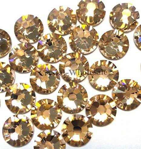Zipperstop 144 Swarovski 2028/2038 20ss HOTFIX Crystal flatbacks ss20 Vintage Rose A HF