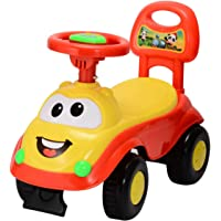Goyal's Kids Magic Ride on Push Car Rider with Musical Horn, 1-3 Years (Red)