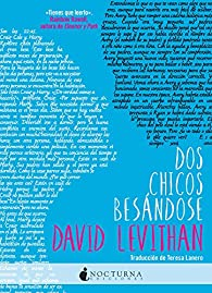 Dos chicos besándose par David Levithan