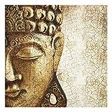 PPS. Imaging Wandbild aus Glas, Vintage-Buddha, quadratisch, 1:1 Druck auf Glas, Glasbild, Wandbild, Glasbild, Wandbild, Glasbild, Glasbild, Glasbild, Wandbild, Maße H x B: 50 cm x 50 cm