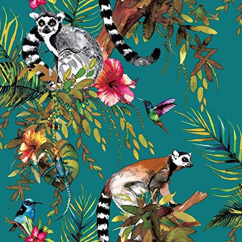 holden-lemur-tapete-teal-12402
