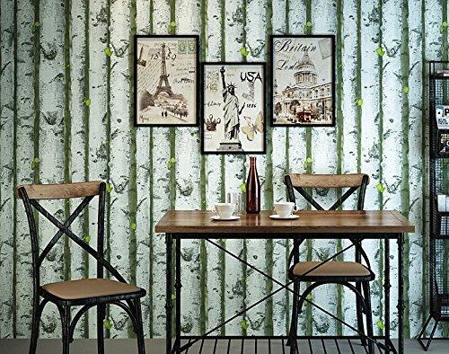 Vlies Tapete Wandtapete 3D Stereo Retro Nostalgia Green Imitation Wood Grain Wood Wallpaper Restaurant Milk Tea Shop Leisure Bar Decoration Background Wallpaper 0.53 * 10M,A