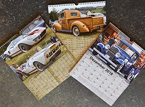großer Ford US Cars Jahres Kalender 2018, Oldies Kult Klassiker
